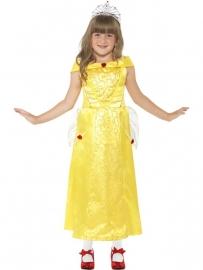 Prinses belle jurk geel