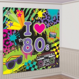 80's wanddecoratie set