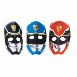 Maskers Power rangers 6 stuks