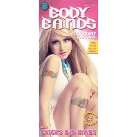 Tattoo body band swallows 2 stuks