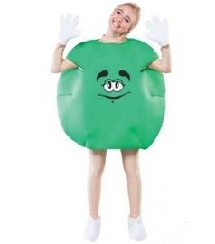M en M feestoutfit green adult