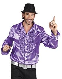 Disco blouse paars met roezels