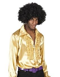 Disco blouse goud met roezels
