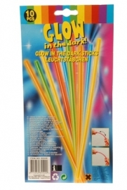 Glowsticks 20 cm koppelbaar
