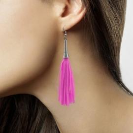 Pink neon oorbellen