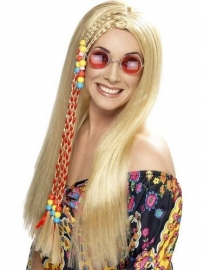 Pruik Hippie blond
