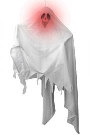 Wit spookje hangdeco met licht