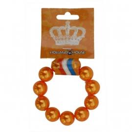 Oranje parel armband
