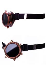 Steampunkbril monocle goudkleurig