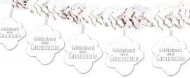 Witte Communie slinger met onderhanger