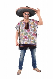 Poncho mexican skull