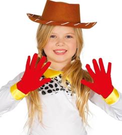 Kinder handschoenen rood