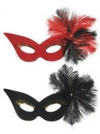Oogmasker fru-fru zwart