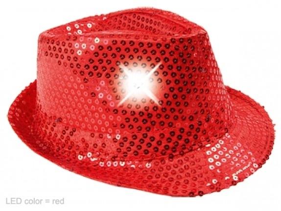 Rood hoedje met Led verlichting