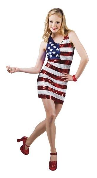 Pailletten jurkje Amerika