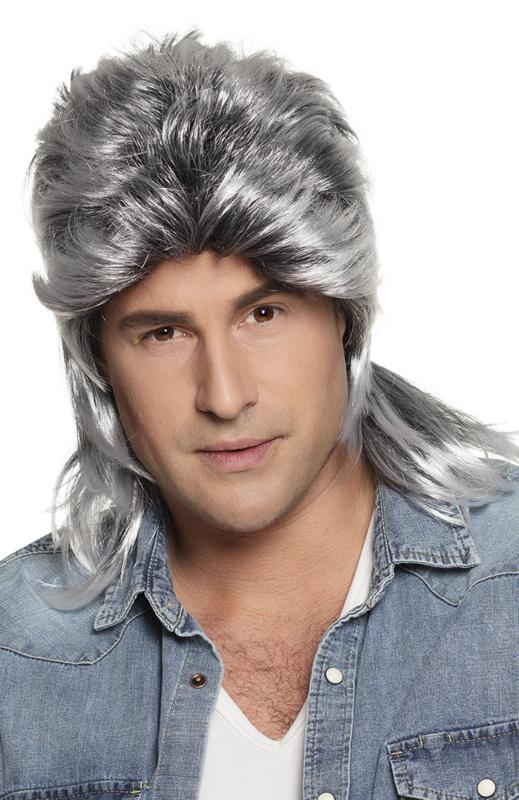 Pruik matje grijs Jimmy