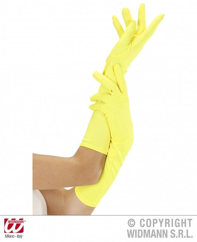 Handschoenen lang Neon Geel