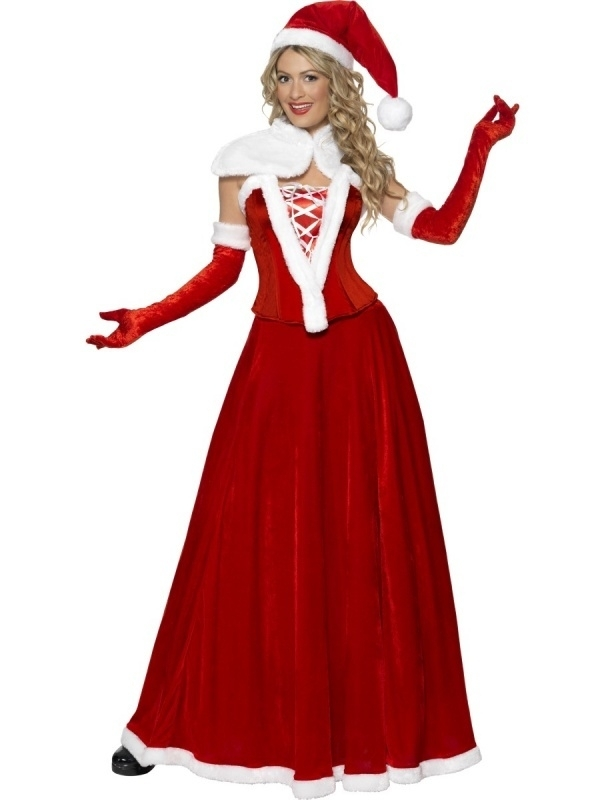 Kerst jurk rood lang