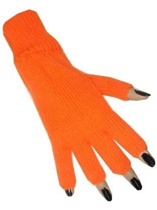 Vingerloze handschoenen oranje