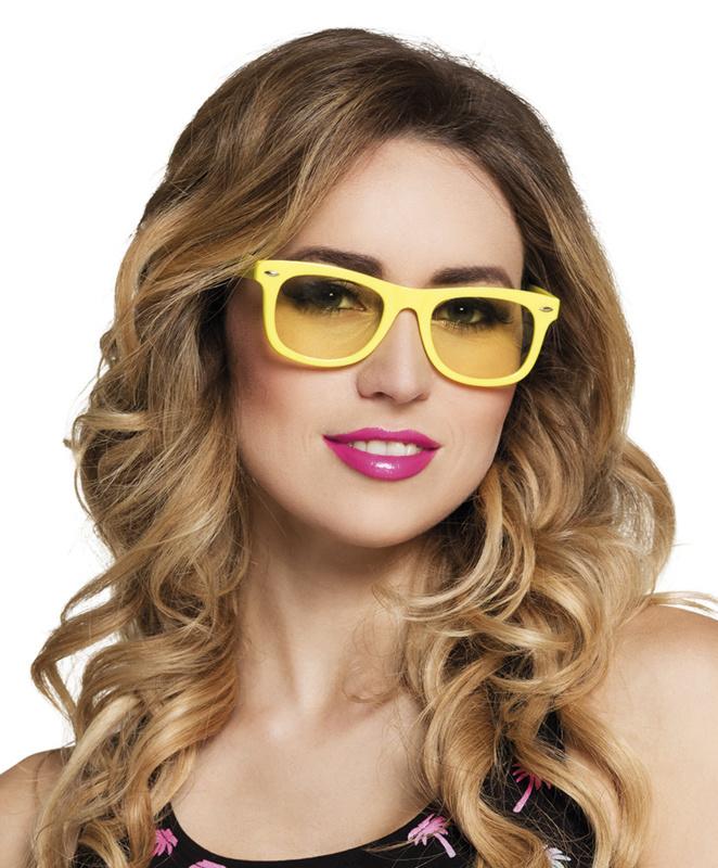 Festival bril neon geel