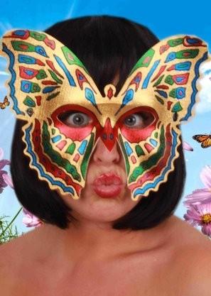 Oogmasker paradijsvlinder