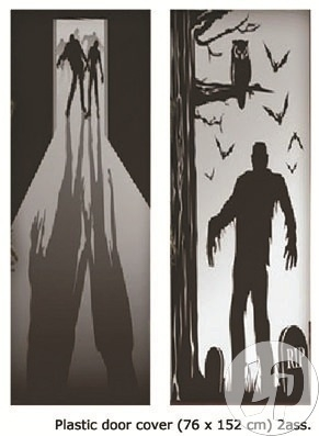 Halloween deurdecoratie
