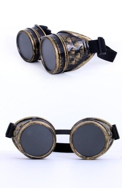 Steampunk bril goudkleurig