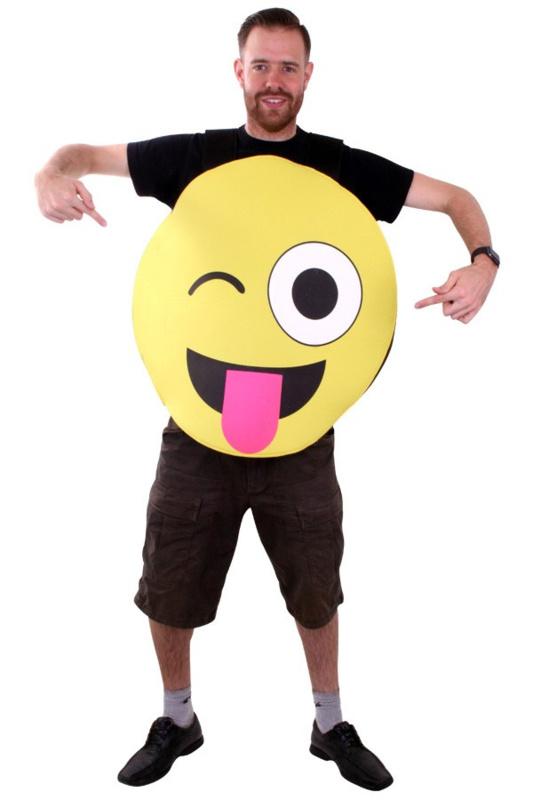 Emoticon kostuum smiley tong