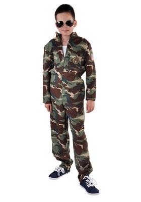 Camouflage kostuum piloot