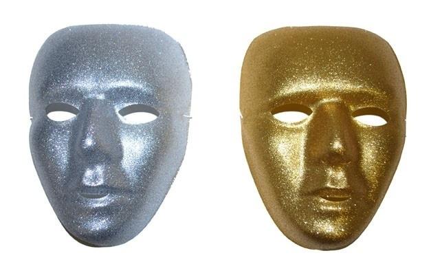 Masker glitterzilver