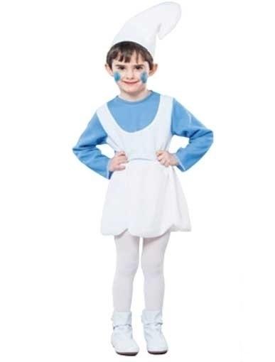 Blauwe kabouter kleding
