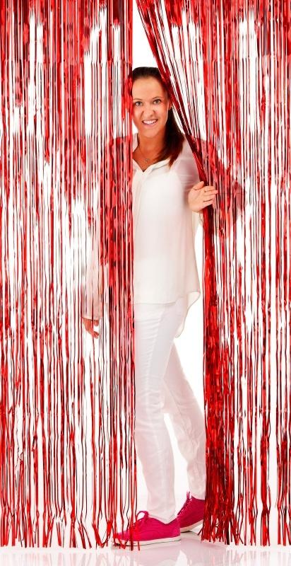 Folie deurgordijn rood