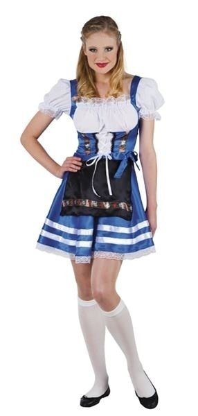 Helena Tiroler jurkje blue