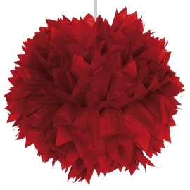 Pom pom hangdeco rood