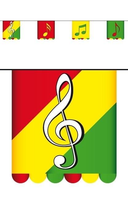 Vlaggenlijn Limburg muziek 3 m