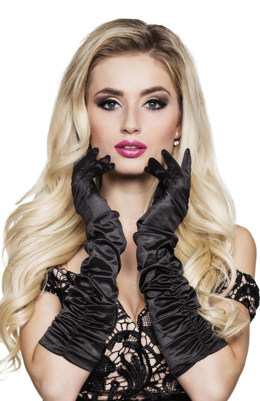 Handschoenen elleboog zwart