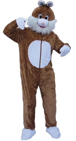 Paashaas kostuum mascotte bruin