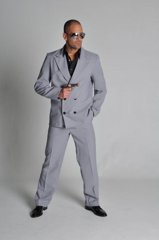 Miami Vice kostuum grijs