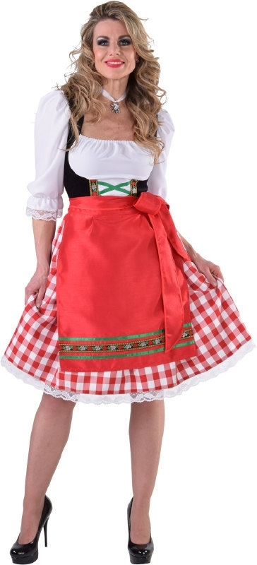 Tiroler jurk lang luxe