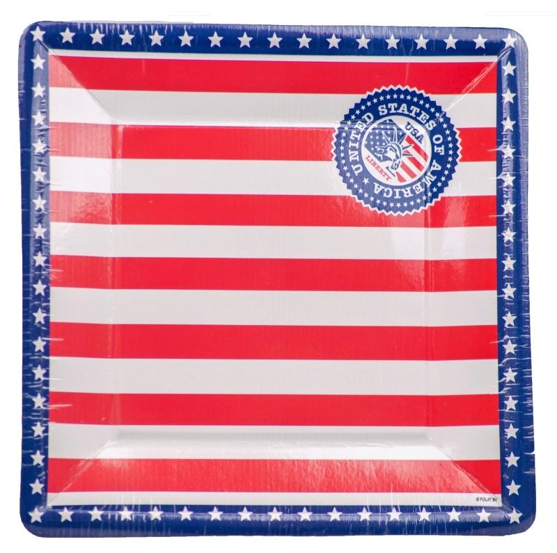 Vierkanten bordjes USA