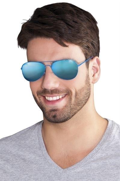 Spiegelbril blauw
