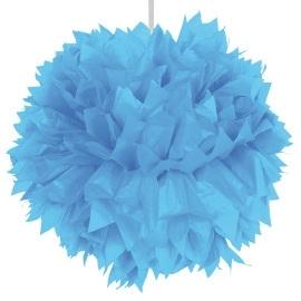 Pom pom hangdeco lichtblauw