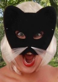 Oog halfmasker zwarte kat