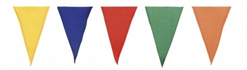 Vlaggenlijn multicolor katoen