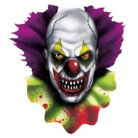 Creepy clown deurbord