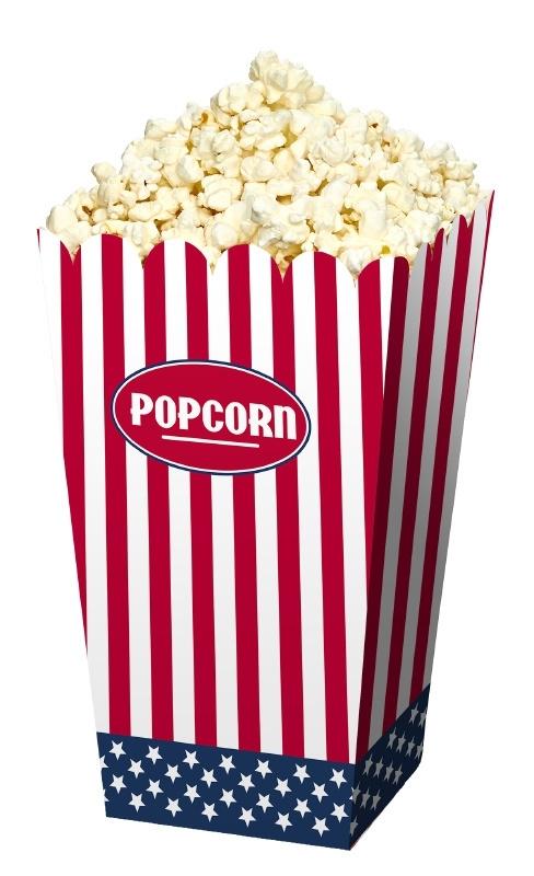Amerikaanse popcorn bakjes
