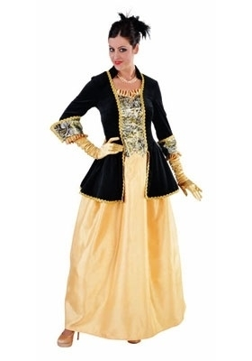 Markiezin black yellow jurk