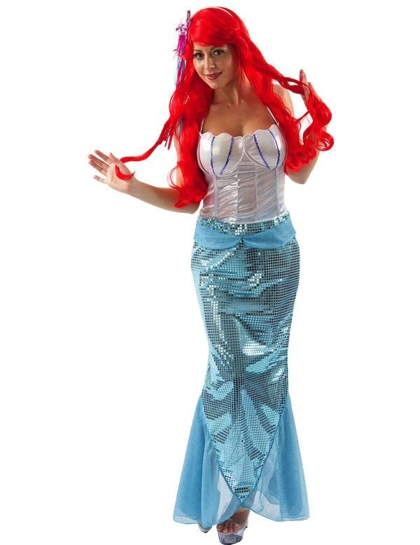 Zeemeermin luxekleur: wit en turqoisemateriaal: 100% polyesterinclusief: topje en rokthema: mermaid, ...