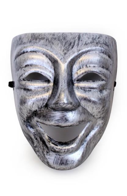 Zilveren narren masker