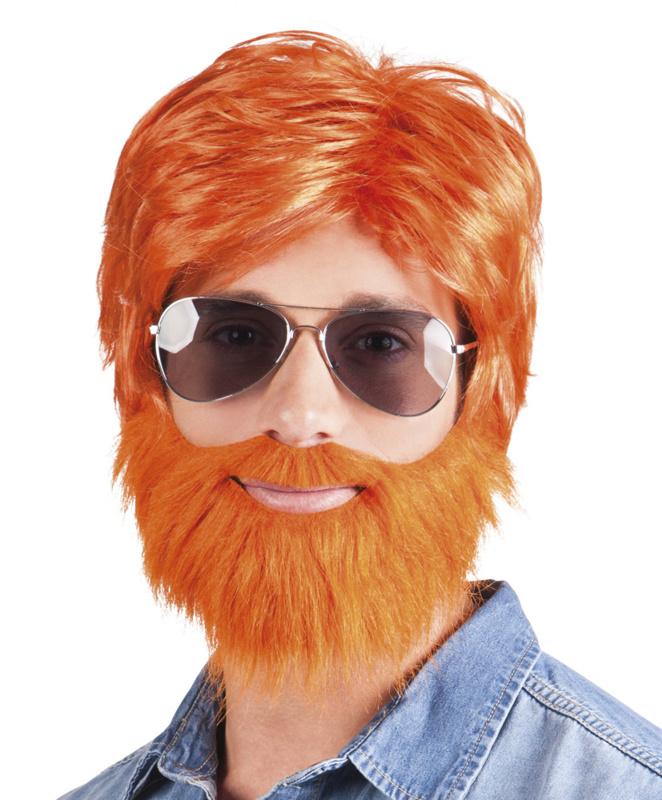 Pruik dude me met baard